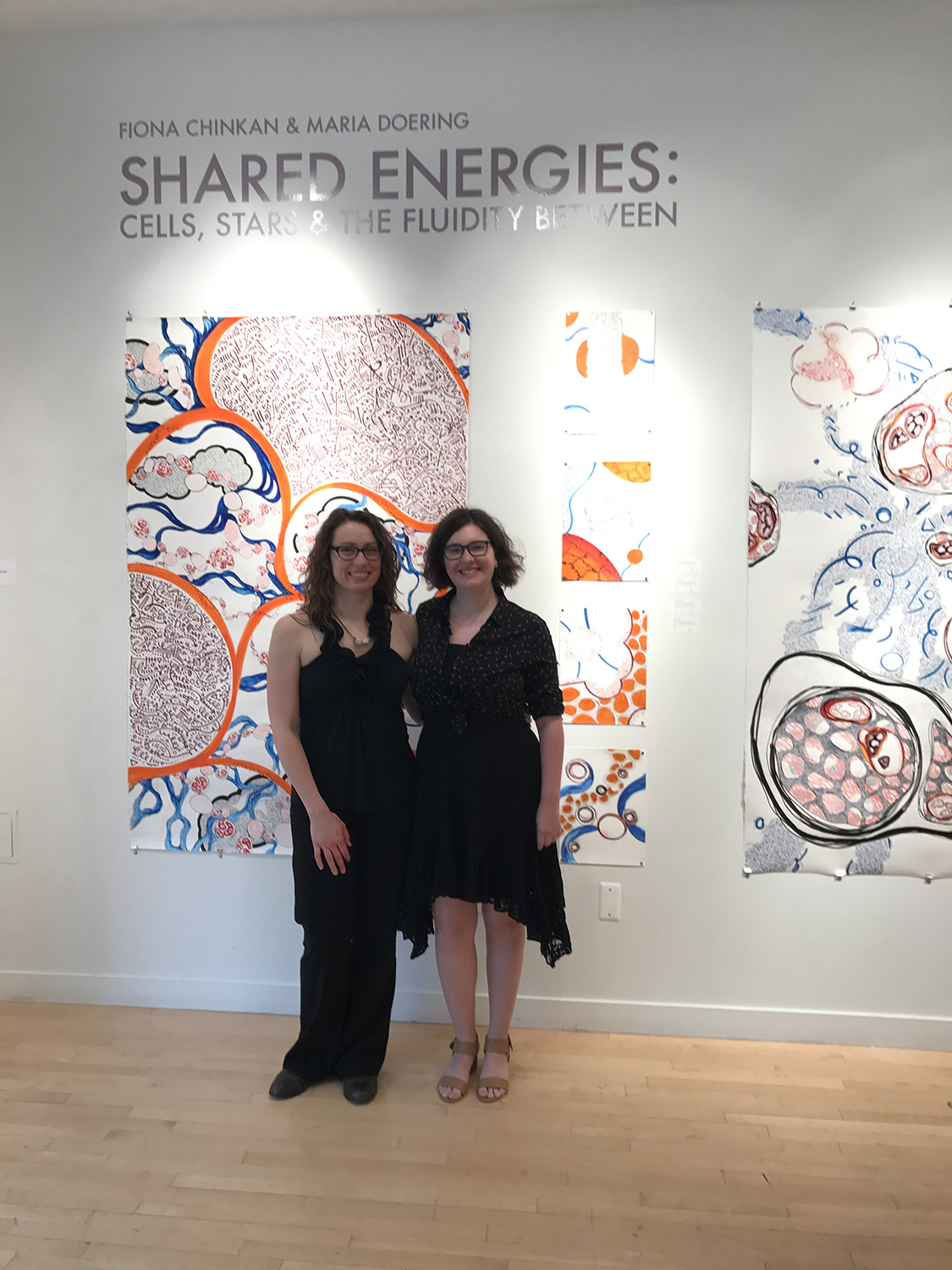 The Artists at the Opening of the Shared Energies Project, May 2017